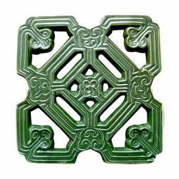 Gạch thông gió hoa cổ men xanh đồng cổ Bát Tràng - Hải Long Tiles