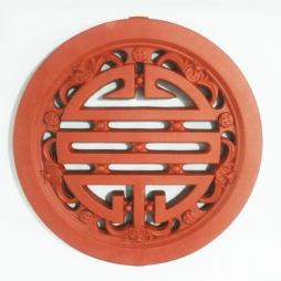Gạch thông gió chữ thọ tròn Bát Tràng 40x40 - Gốm sứ xây dựng Hải Long