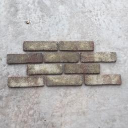 Gạch ốp tường cổ bề mặt giả mốc trắng kt 55x200x14 mm