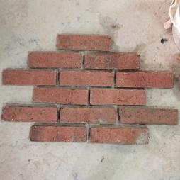 Gạch thẻ giả cổ ốp tường bề mặt sần kt 55x200x14 mm