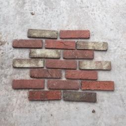 Gạch cổ ốp tường phối màu trộn tuyệt đẹp kt 55x200x14 mm