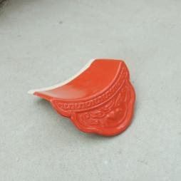 Ngói âm dương hổ phù men cam đỏ - cỡ trung