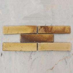 Gạch thẻ ốp tường men khô vàng gấm