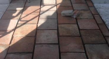 Gạch cổ Bát Tràng lát Đền Gióng Phù Đổng hinh 3