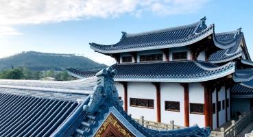 chùa Bảo Vân lợp ngói âm dương Hải Long