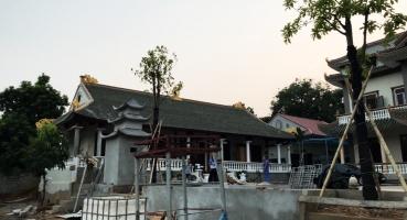 Ngói mũi hài tráng men xanh đồng cổ lợp Khu Thiền tại Phú Thọ