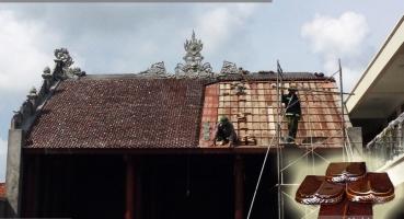Nhà thờ họ - Hà Nam - Ngói hài kép men Cánh rán Cổ