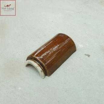 Ngói hổ phù chữ thọ men da lươn cổ - cỡ trung 01