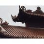Ngói âm dương rồng đời Trần Việt Nam men da lươn cổ - Cỡ trung 01