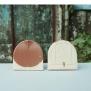 Ngói Mũi hài 150 tráng men Cam đất và Hồng Sakura 01