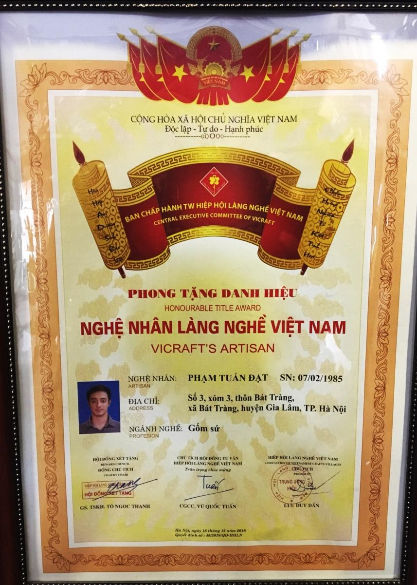 Nghệ nhân Phạm Tuấn Đạt - Hải Long Bát Tràng