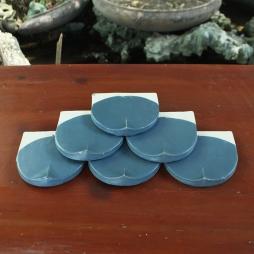 Ngói hài 150 men xanh đậm Bleu Fonte