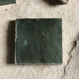 Gạch cổ lát nền men xanh