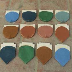12 màu men ngói Hải Long