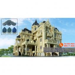 Biệt thự Pháp cổ dùng ngói Hải Long men xanh đen