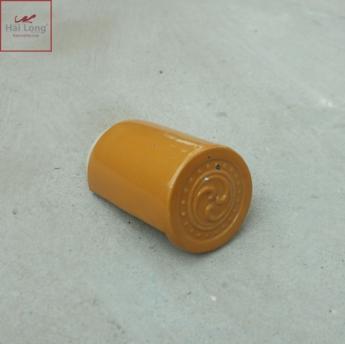 Ngói âm dương hoa sen Nhật men vàng Golden - cỡ trung 01