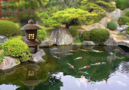 Đèn gốm trang trí sân vườn phong cách Nhật Bản 01