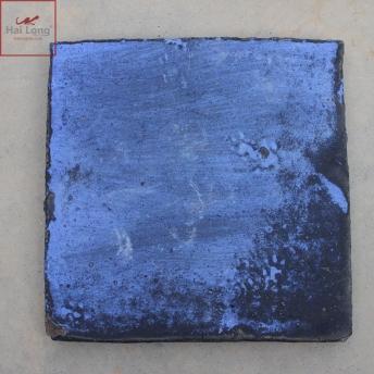 Gạch cổ lát nền men khô xanh gấm