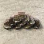 Ngói mũi hài 220x150 men Hoa Mận Cổ 01